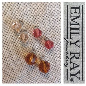 Emily Ray Cut Crystal Hoopla Charms Sterling Hook